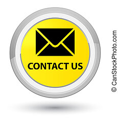 Contact us (email icon) prime yellow round button