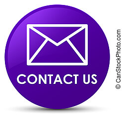 Contact us (email icon) purple round button