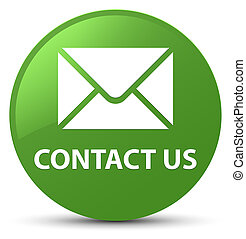 Contact us (email icon) soft green round button