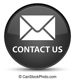 Contact us (email icon) special black round button