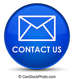 Contact us (email icon) special blue round button