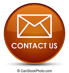 Contact us (email icon) special brown round button