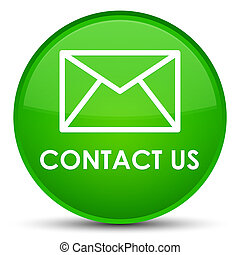 Contact us (email icon) special green round button