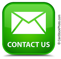 Contact us (email icon) special green square button