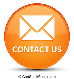 Contact us (email icon) special orange round button