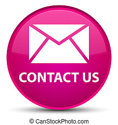 Contact us (email icon) special pink round button