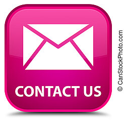 Contact us (email icon) special pink square button