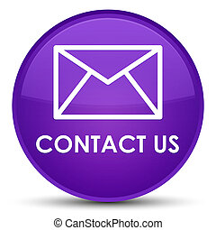 Contact us (email icon) special purple round button