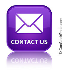 Contact us (email icon) special purple square button