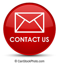 Contact us (email icon) special red round button