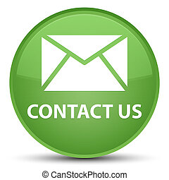 Contact us (email icon) special soft green round button