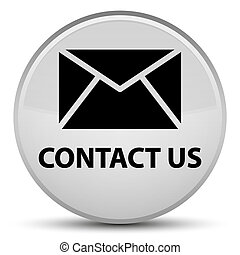 Contact us (email icon) special white round button
