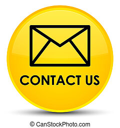Contact us (email icon) special yellow round button