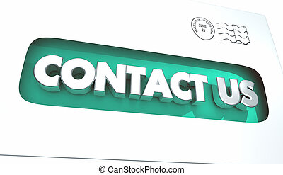 Contact Us Envelope Reach Out Feedback Mail 3d Illustration