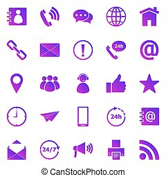 Contact us gradient icons on white background