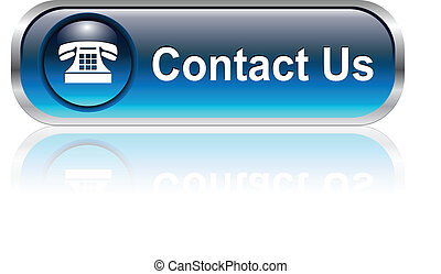 contact us icon, button - Contact us, telephone icon,...