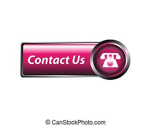 Contact us icon, button