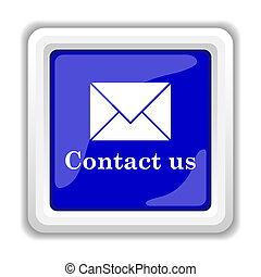 Contact us icon. Internet button on white background.