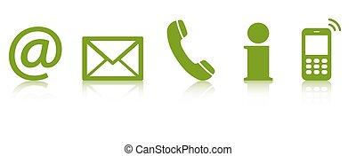 contact us icon set