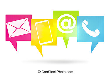 contact us icons color