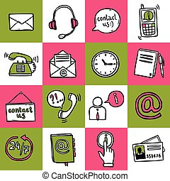 Contact Us Icons - Contact us helpdesk telephone hotline...