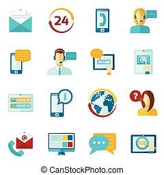 Contact Us Icons Set