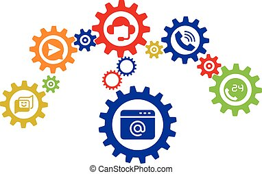 contact us icons vector design