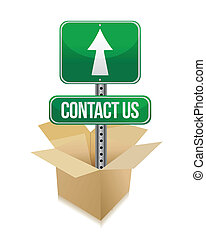 contact us illustration design over