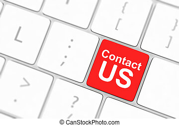 Contact us keyboard button