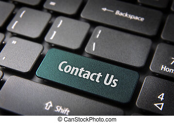 Contact us keyboard key, website template section background