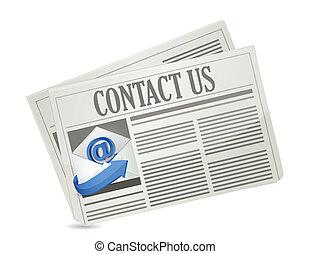 contact us newspaper illustration design
