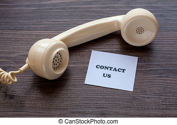 Contact Us Note with Telephone Receiver