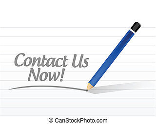 contact us now message illustration design