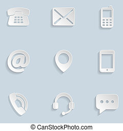 Contact us Paper Icons
