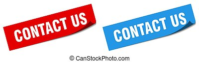contact us paper peeler sign set. contact us sticker