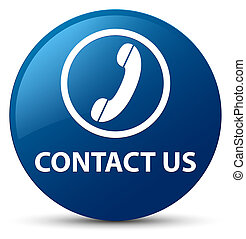 Contact us (phone icon) blue round button