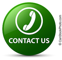 Contact us (phone icon) green round button