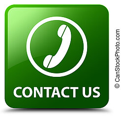 Contact us (phone icon) green square button