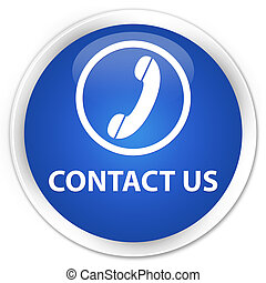 Contact us (phone icon) premium blue round button
