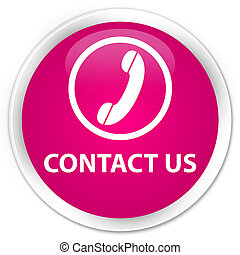 Contact us (phone icon) premium pink round button