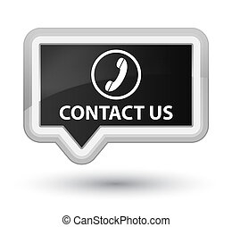 Contact us (phone icon) prime black banner button