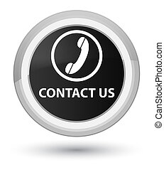 Contact us (phone icon) prime black round button
