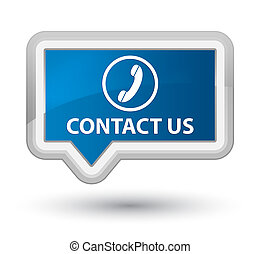 Contact us (phone icon) prime blue banner button