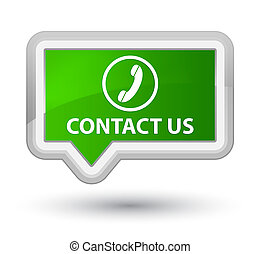 Contact us (phone icon) prime green banner button