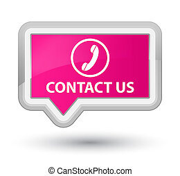 Contact us (phone icon) prime pink banner button