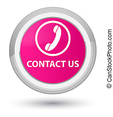 Contact us (phone icon) prime pink round button