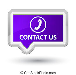 Contact us (phone icon) prime purple banner button