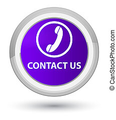 Contact us (phone icon) prime purple round button