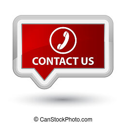 Contact us (phone icon) prime red banner button