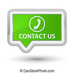 Contact us (phone icon) prime soft green banner button